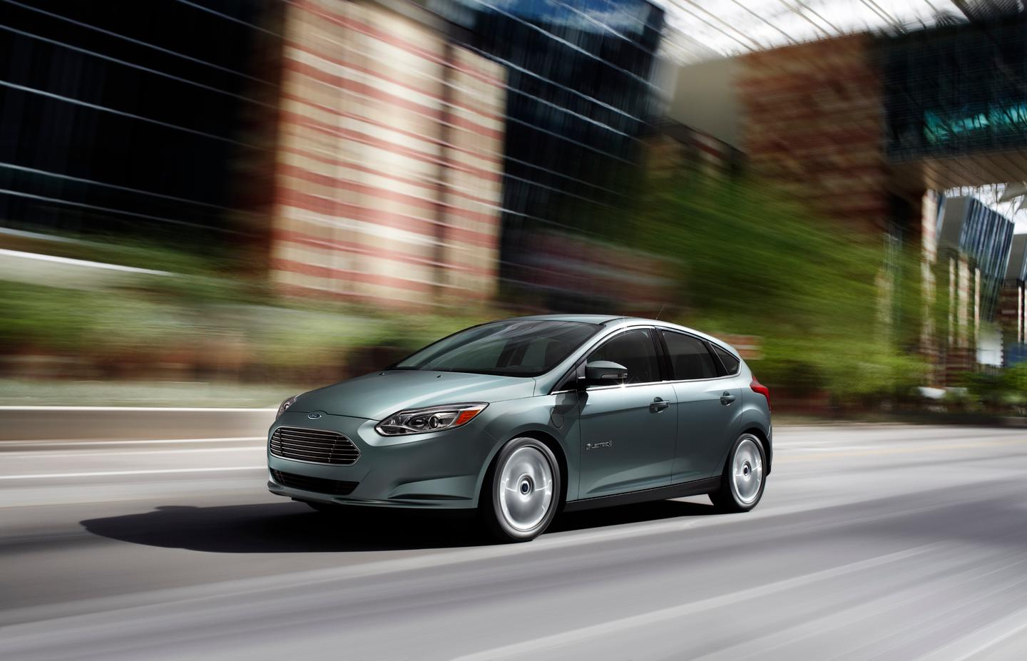 The Ford Focus Electric charges in half the time of the Nissan Leaf