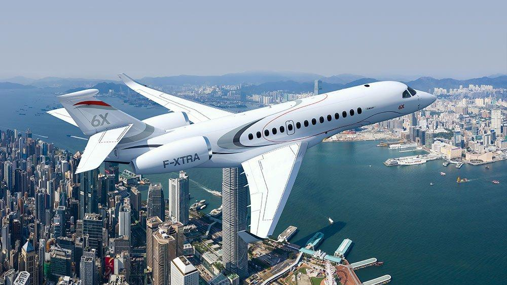 Artist's rendering of the Falcon 6X