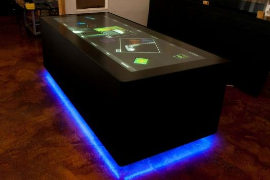 Ideum's multi-touch EM spectrum table is on display from the 7th of November