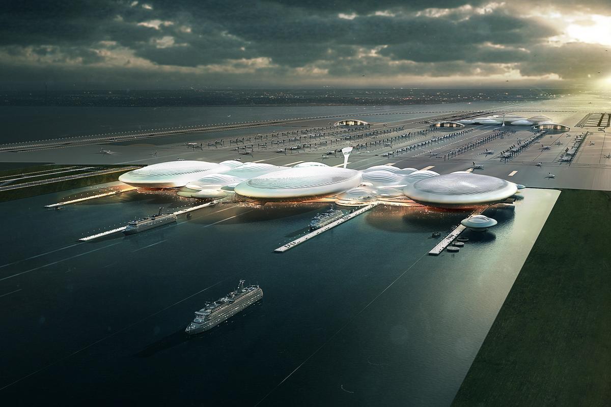 Artist's concept of the London Britannia Airport