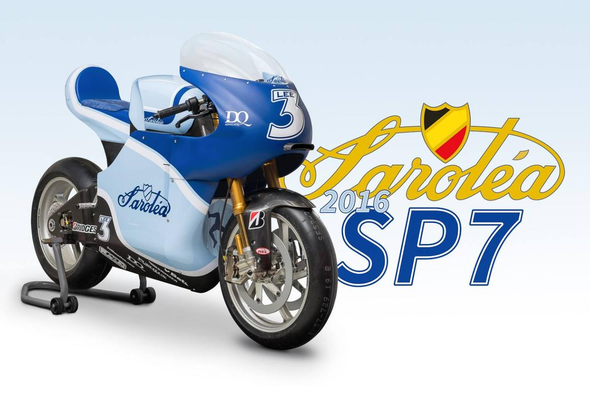 Saroléa Racing SP7 electric superbike in the colors of Lee Johnston – the second bike of Dean Harrison will sport a different livery that will be unveiled at the Isle of Man