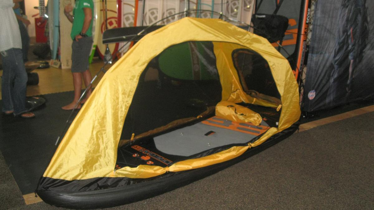 The Scout paddleboard with Ultimate Adventure Tent