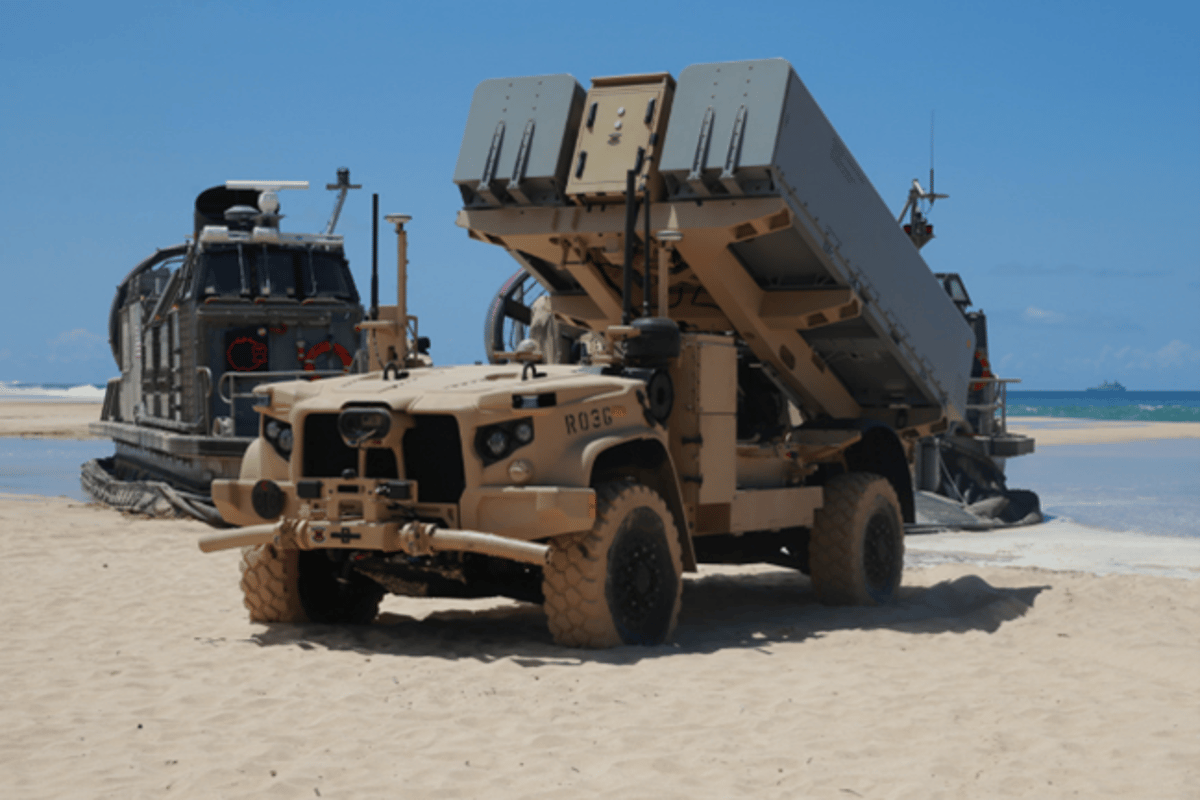The ROGUE Fire vehicle with the NMESIS launcher