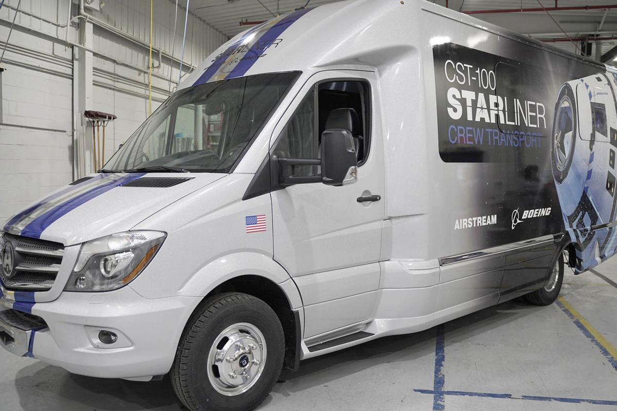 The Astrovan II can carry up to eight astronauts