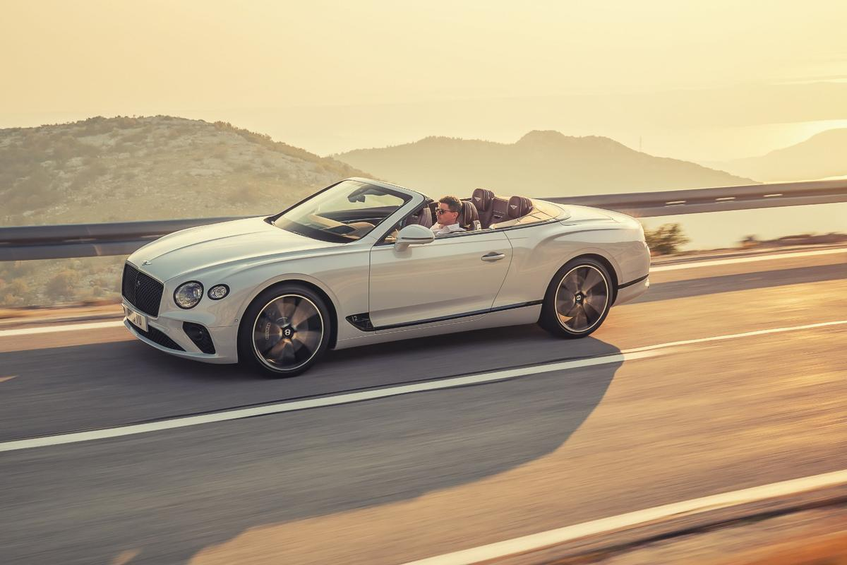 The new Continental GT Convertible: 626-horsepower, 664 lb-ft of torque ... and the wind in your hair