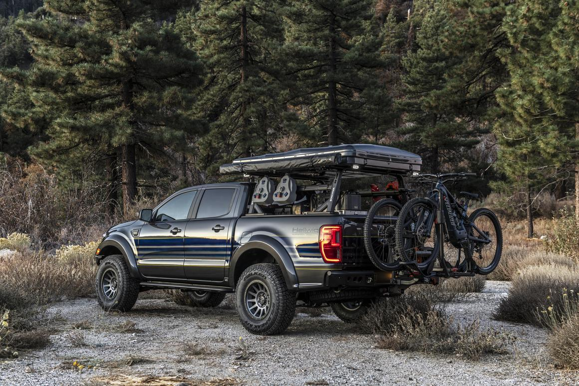 """The Hellwig Ford Ranger """"Attainable Adventure"""" is one of the coolest of the many adventure rigs at SEMA 2019, a simple but effective design for seeking out fun in the backcountry"""