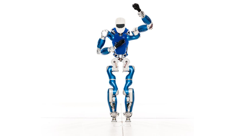 The German Aerospace Center's new humanoid robot, TORO, waves hello to the world (Photo: DLR)