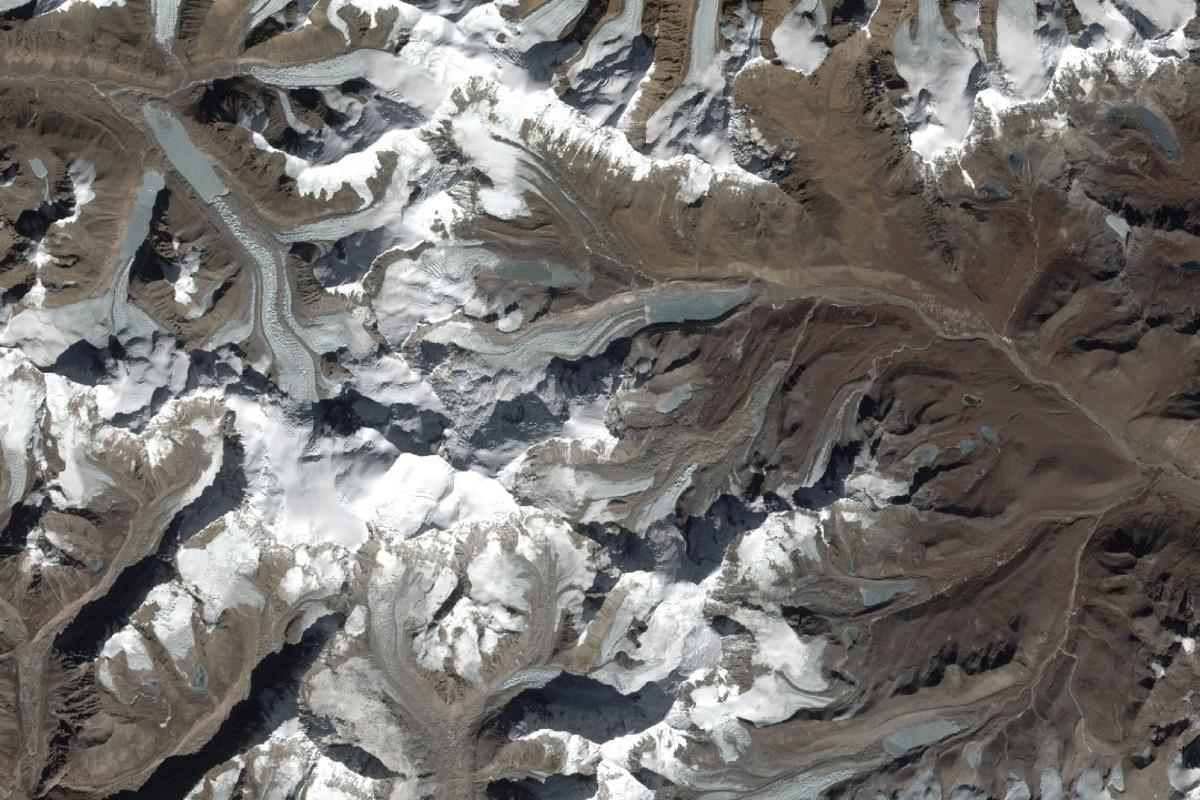 Glaciers in Northeast India, captured on December 6, 2018