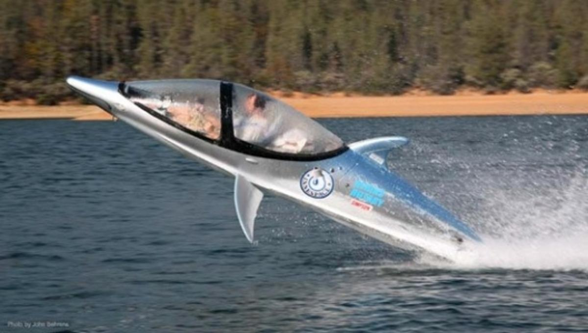 The Seabreacher not only looks like a dolphin, it can dive and jump like one, too
