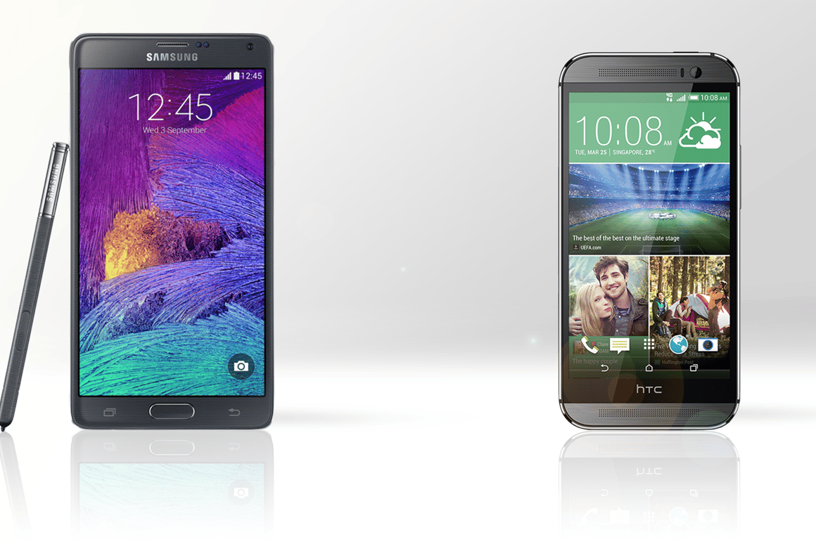 The Samsung Galaxy Note 4 and HTC One (M8) are both high-end handsets, but there are some significant differences between them