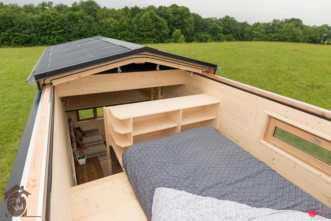 The Cécile's standout feature is its roof, which can be manually slid open, as shown
