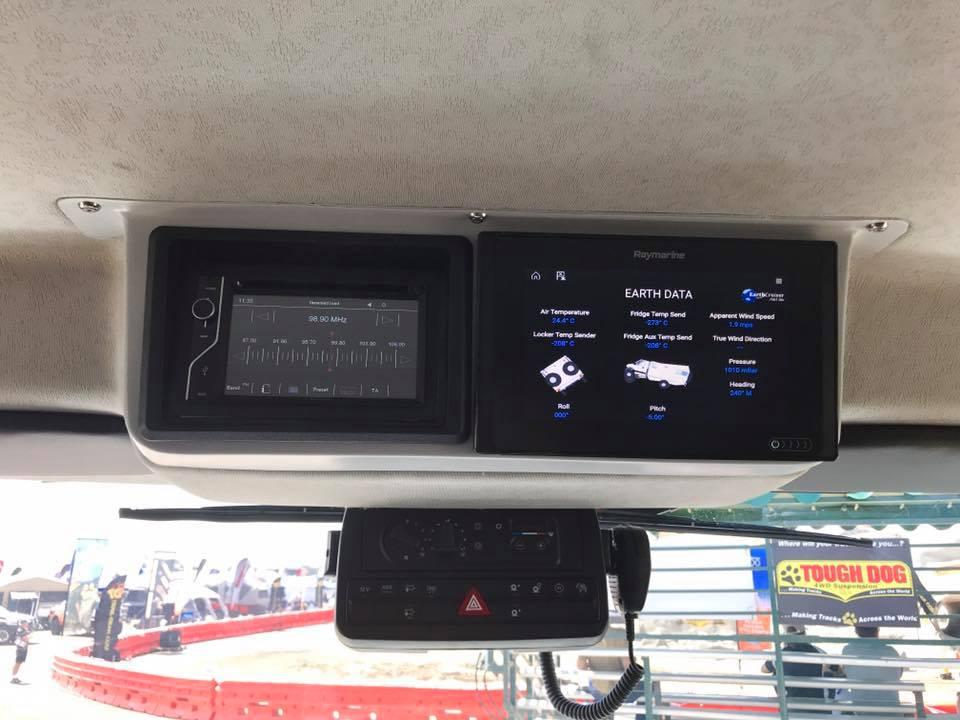 EarthCruiser gives the XPR440an advanced telematics system with GPS, Hema mapping, 3-axis pitch and roll monitoring and more