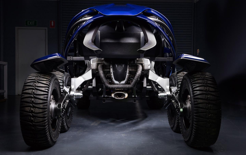 The Ferox Azarisuses a reversed BMW R1200GS motor