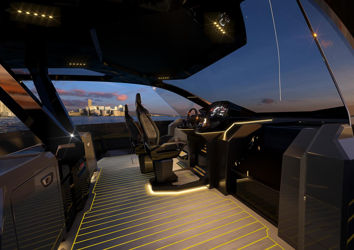 The interior of the Tecnomar for Lamborghini 63 will be offered in two configurations