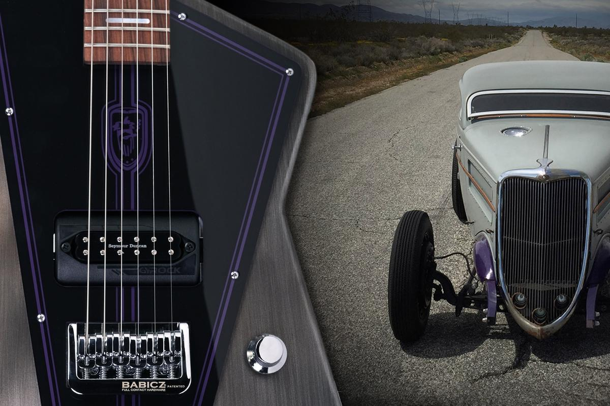 The design theme for the Billy F Gibbons Special build was inspired by the guitarist's 1934 Ford Coupe known as Whiskey Runner