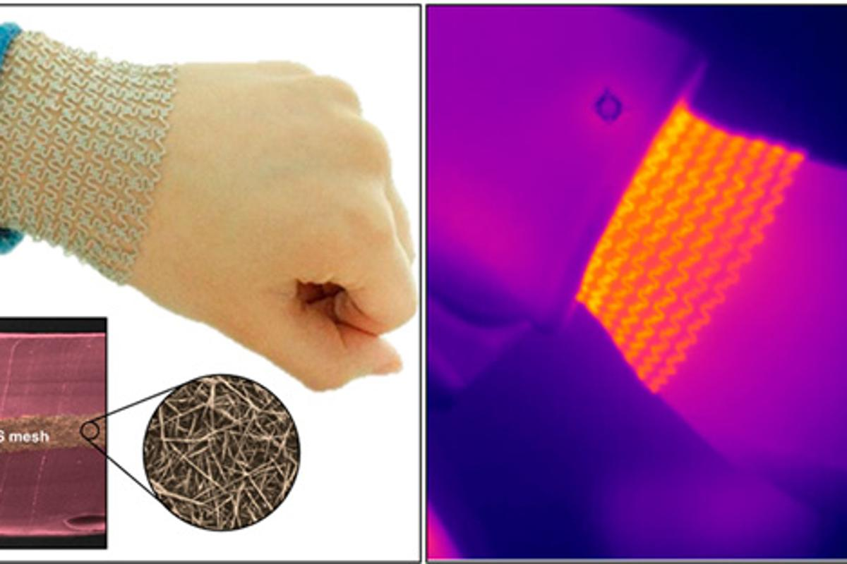 The heat-emitting mesh in action