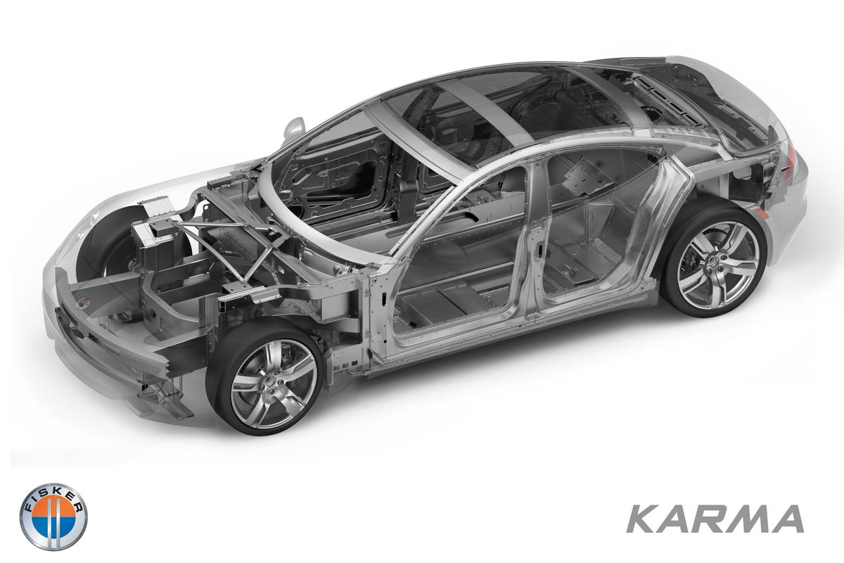 The Karma's aluminum space frame – new levels of rigidity and strength