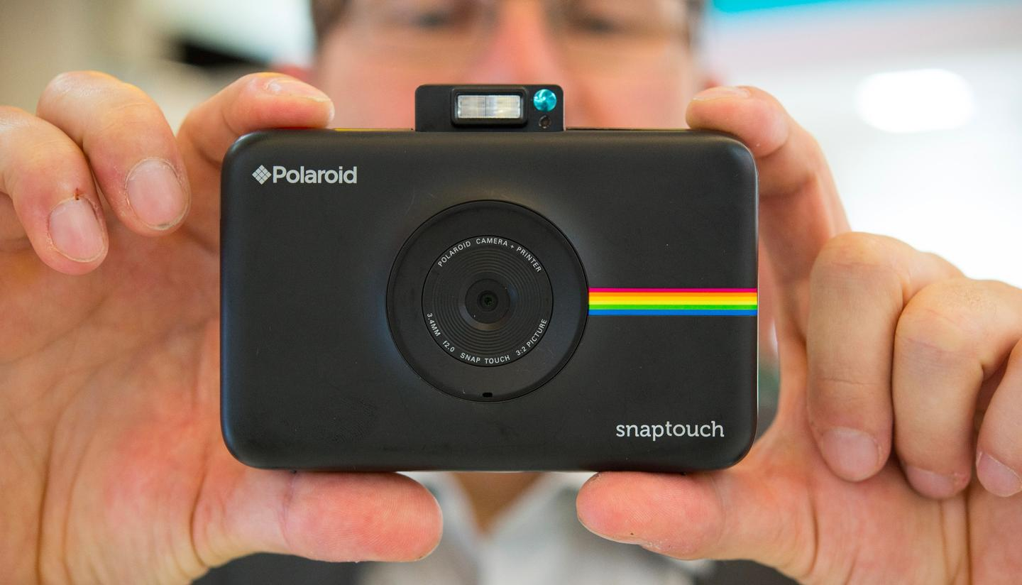 The Polaroid Snap Touch now features a touch screen so you can see what you are doing