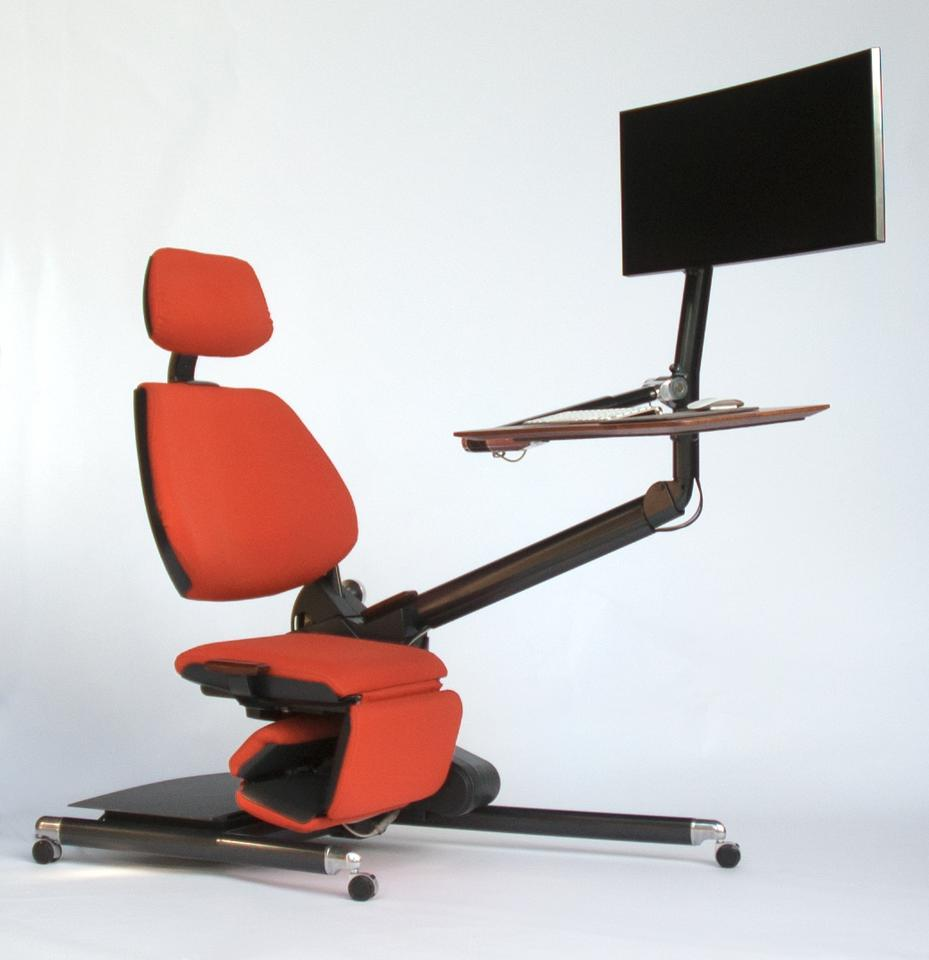 Designed for those who spend a good chunk of their lives chained to a computer, the Altwork Station is a sizable piece of office equipment