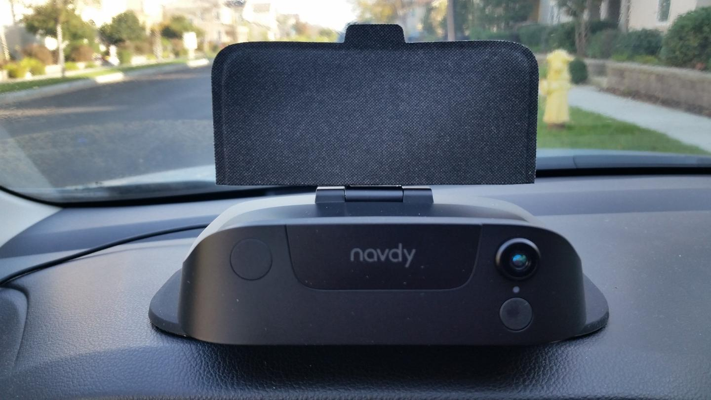 The Navdy head up display is easily set up in nearly any car made before 1996
