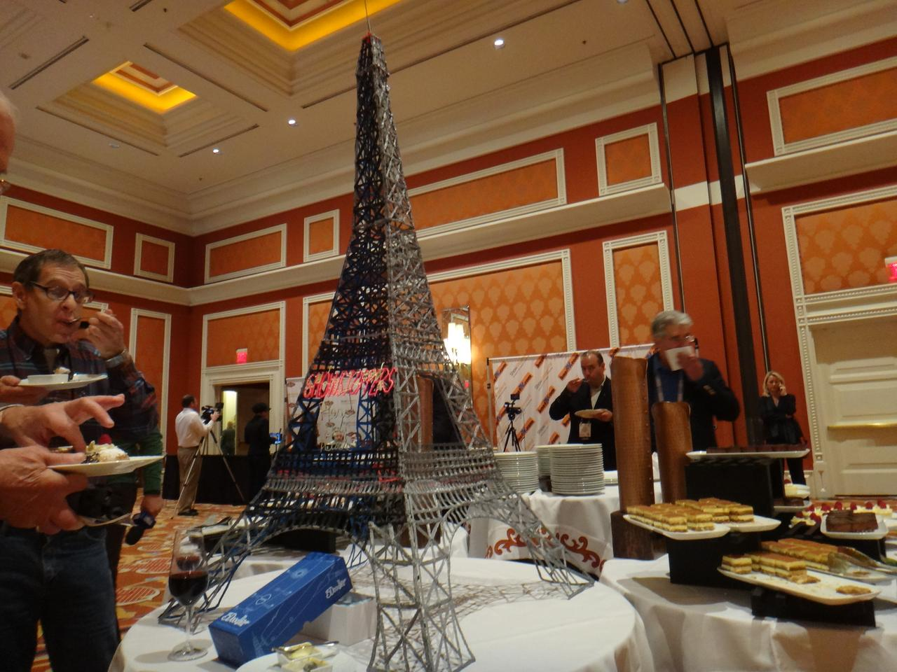 """The 3Doodler's """"pièce de résistance"""" was a massive recreation of the Eiffel Tower, which we were told involved combining multiple fragments together"""