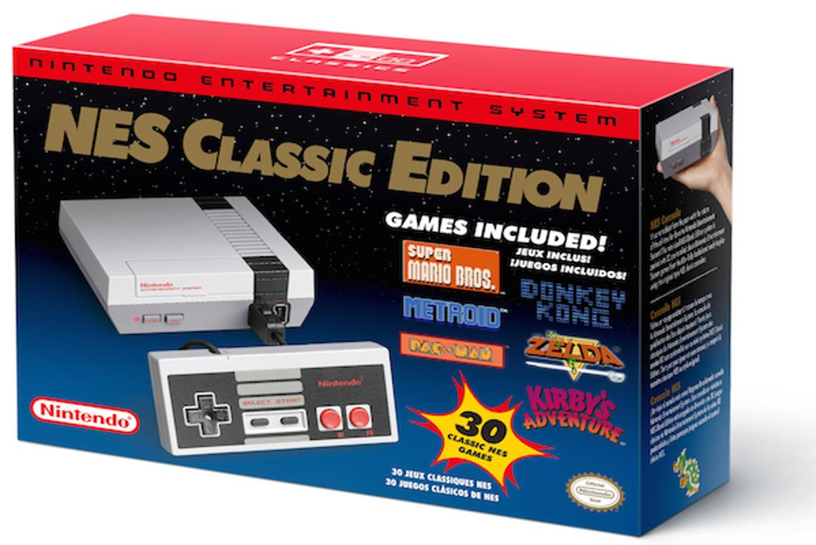 Nintendo's NES Classic Edition includes old-school filters