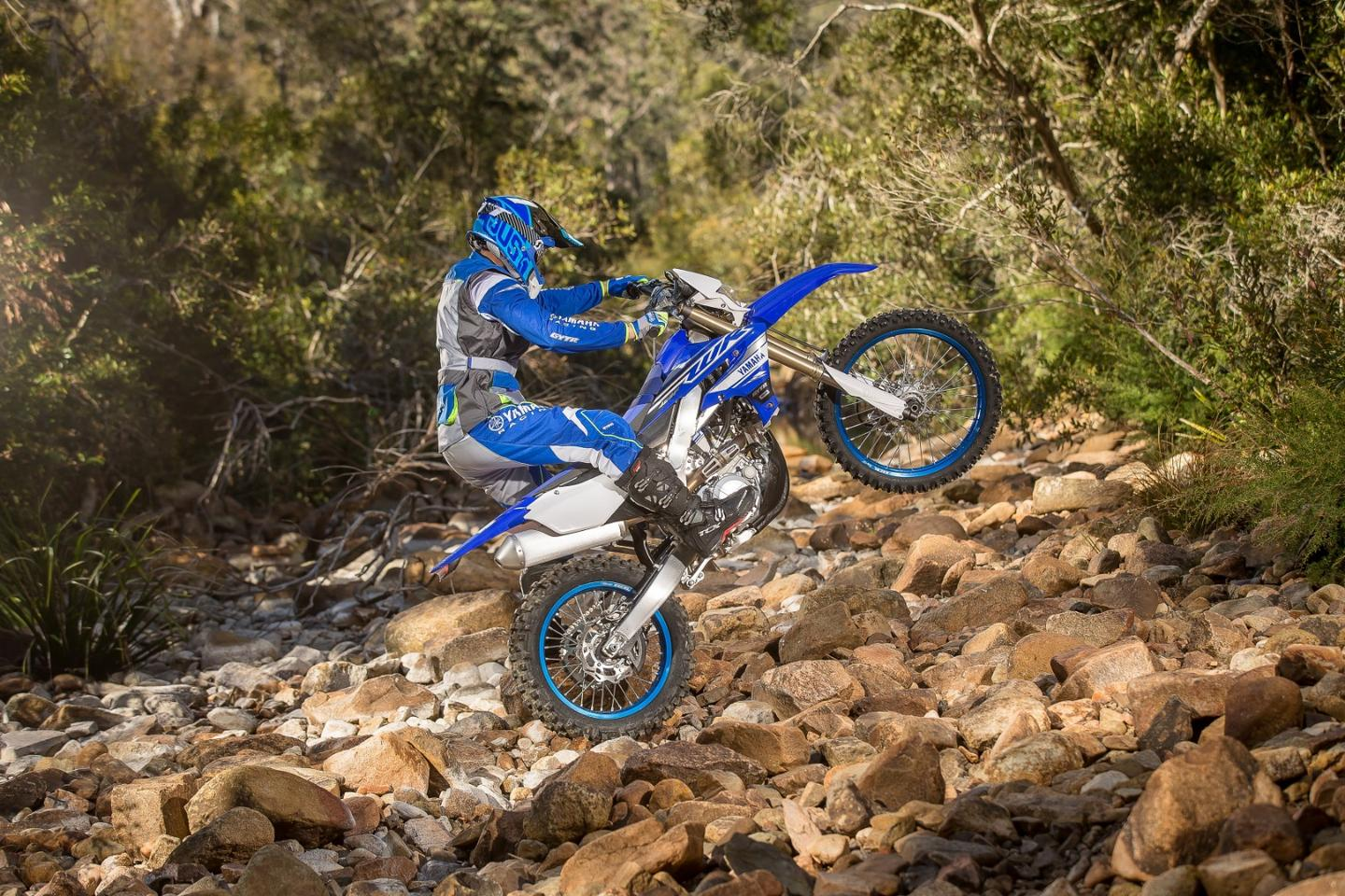 The 2019 Yamaha WR450F in action