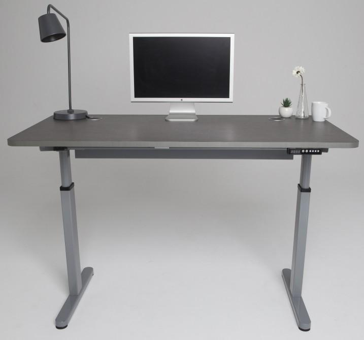 StandDesk converts from sitting to standing modes at the push of a button