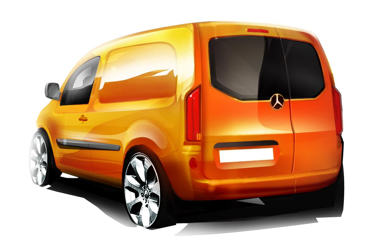 The Mercedes Benz Citan will come in crewcab and mixed use interior as well as panel van