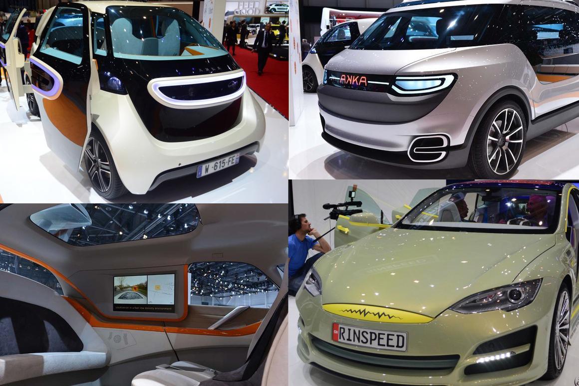 Futuristic autonomous car design studies at the 2014 Geneva Motor Show