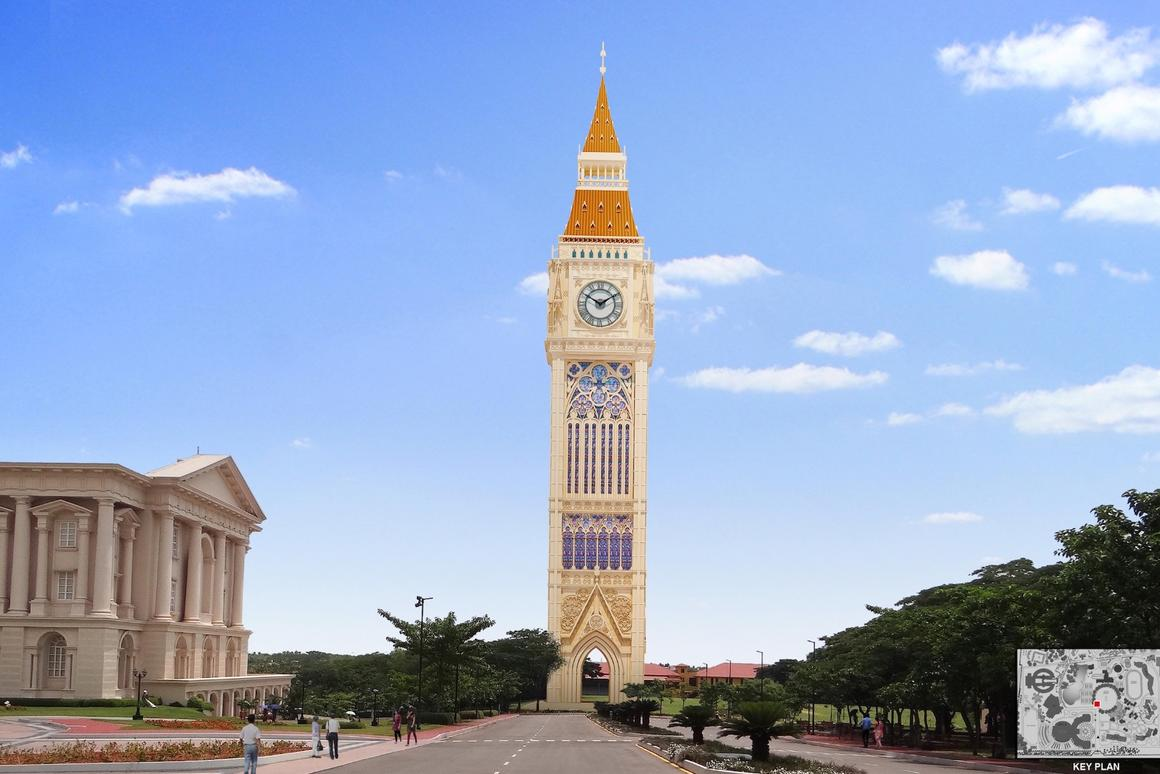 The cost for the clock tower is estimated at roughly US$8.8 million