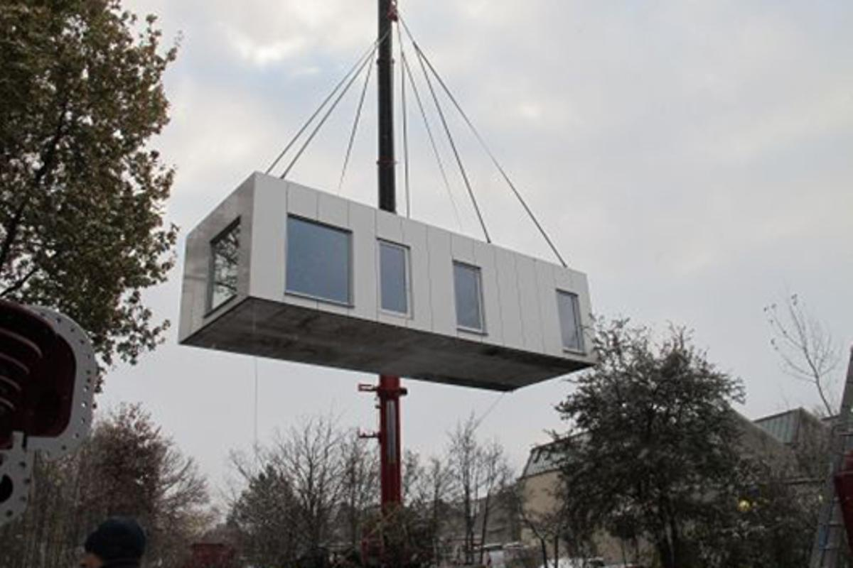"""The """"Flying House"""" will be used to test a new solar thermal heating system as part of the Solspaces project"""
