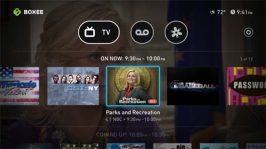Boxee TV features a new interface
