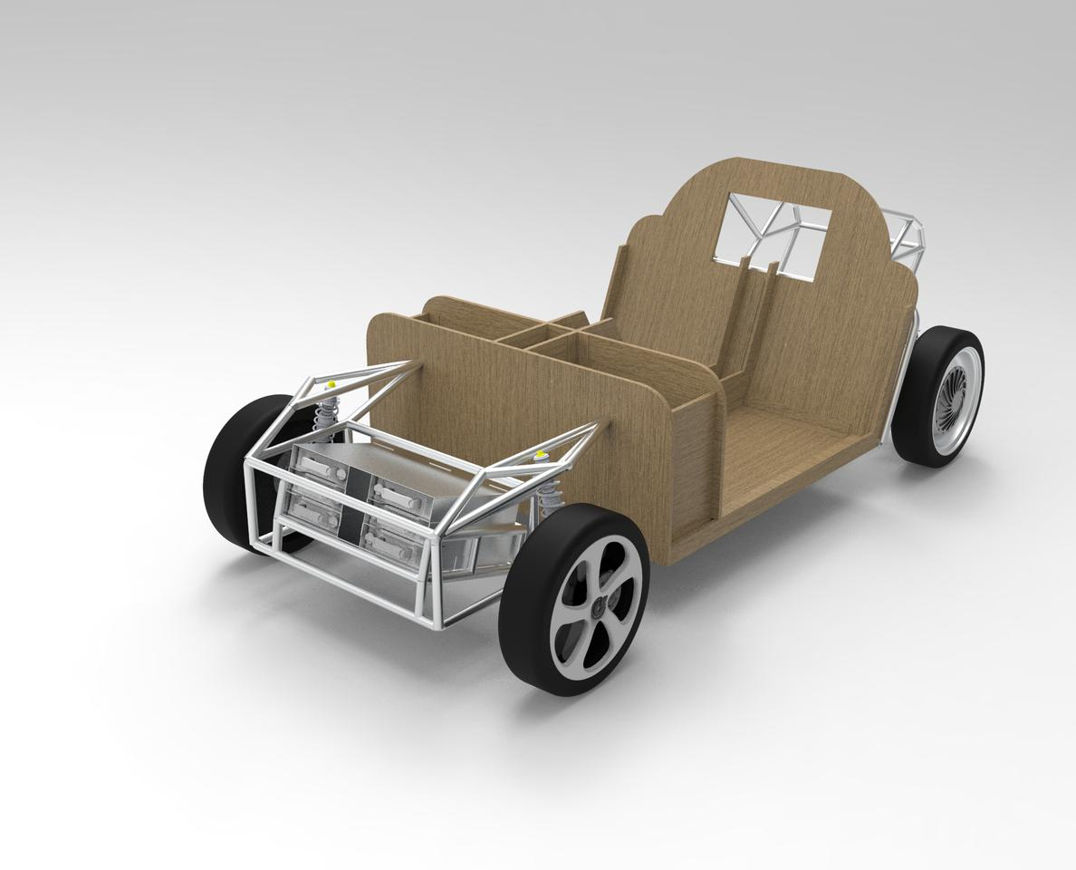 The chassis is to be made from a mix of flax and recycled ocean plastic