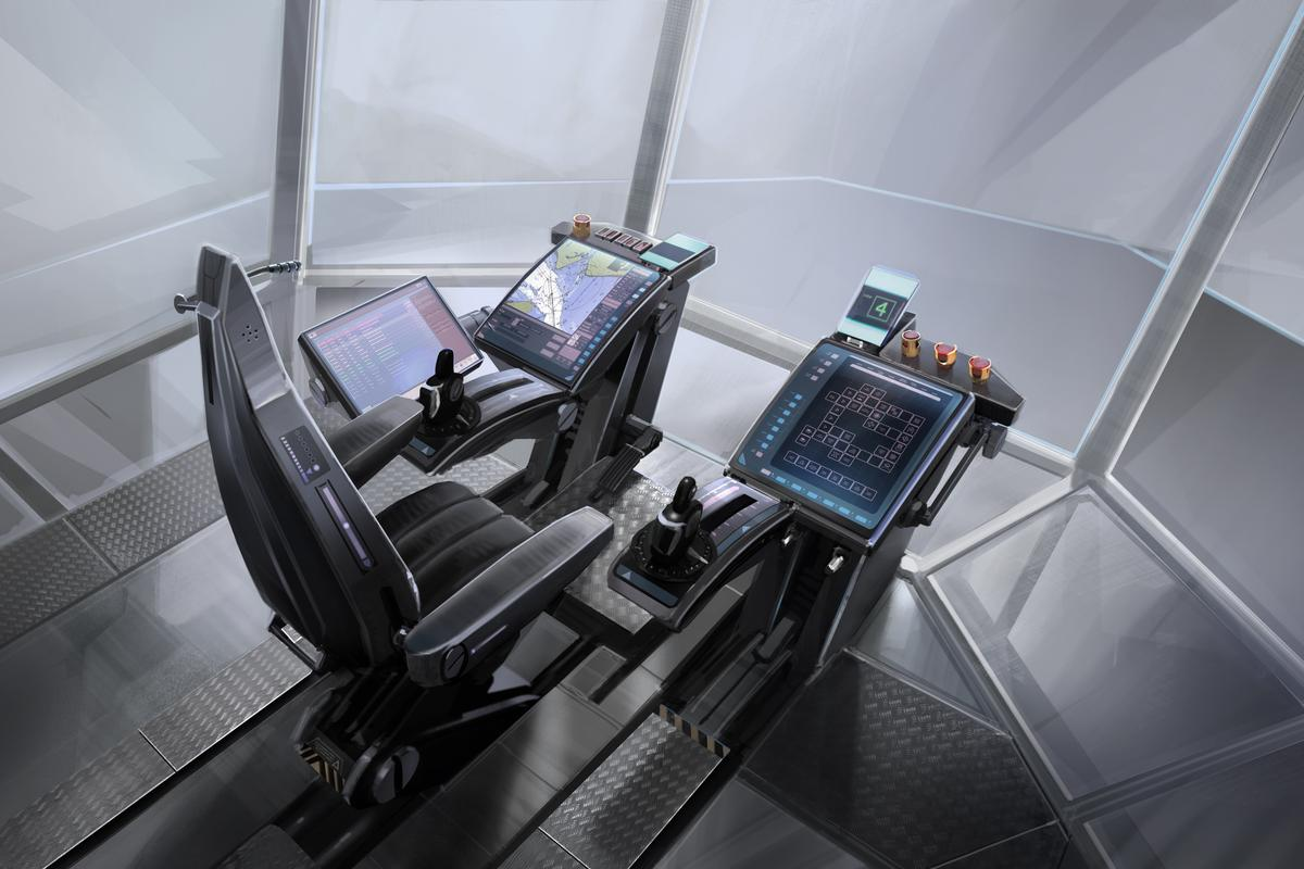 The bridge of 2025 will use a computerized workstation