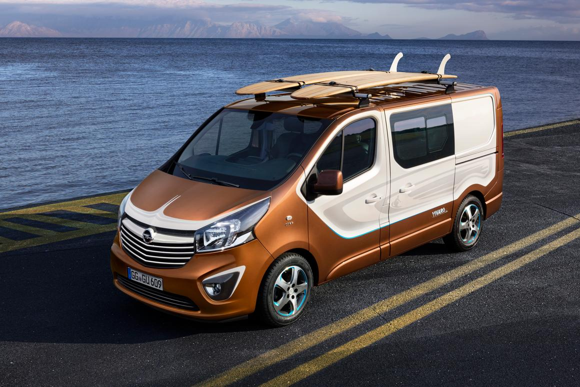 The Vivaro Surf Concept will make its debut at the 2015 Frankfurt Motor Show