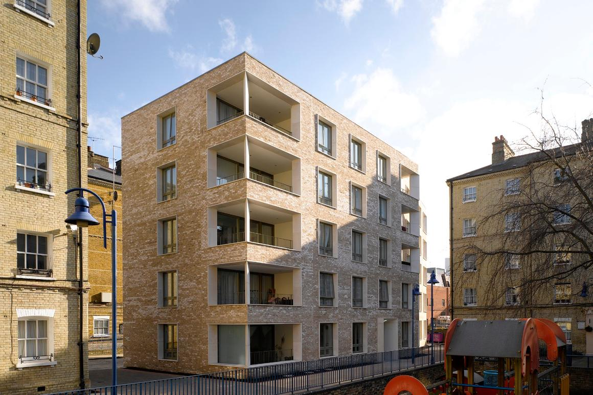 Darbishire Place, an affordable housing project by Niall McLaughlin Architects, is one of the standout entries this year