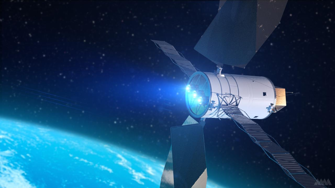 Artist's concept of a Solar Electric Propulsion system (Image: NASA)