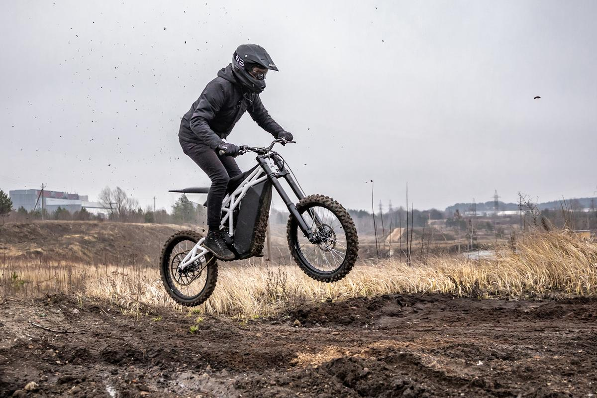 The UBCO FRX-1 is a 20-horsepower, 132-pound electric trail blaster