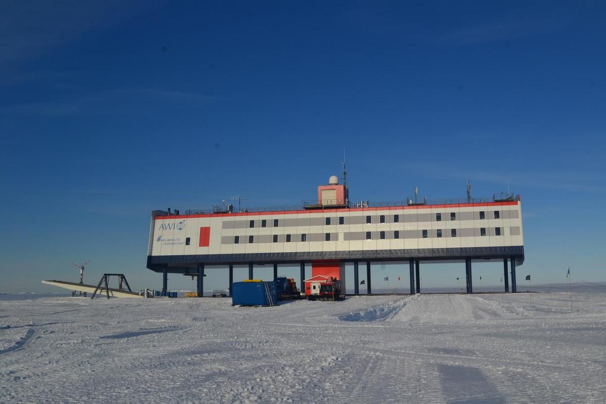 The Alfred Wegener Institute's Neumeyer-Station III in Antarctica
