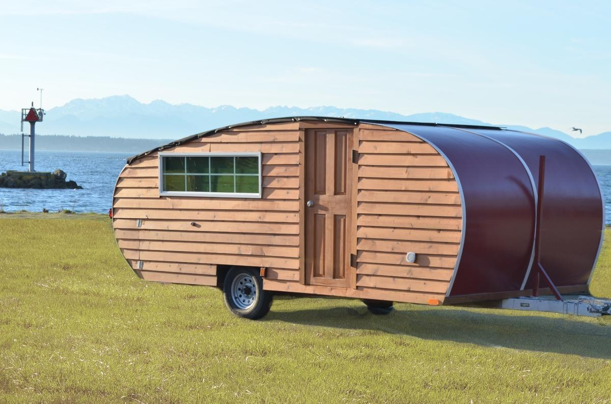 Those looking for a charming teardrop trailer that sleeps four could do worse than Homegrown Trailers' debut product