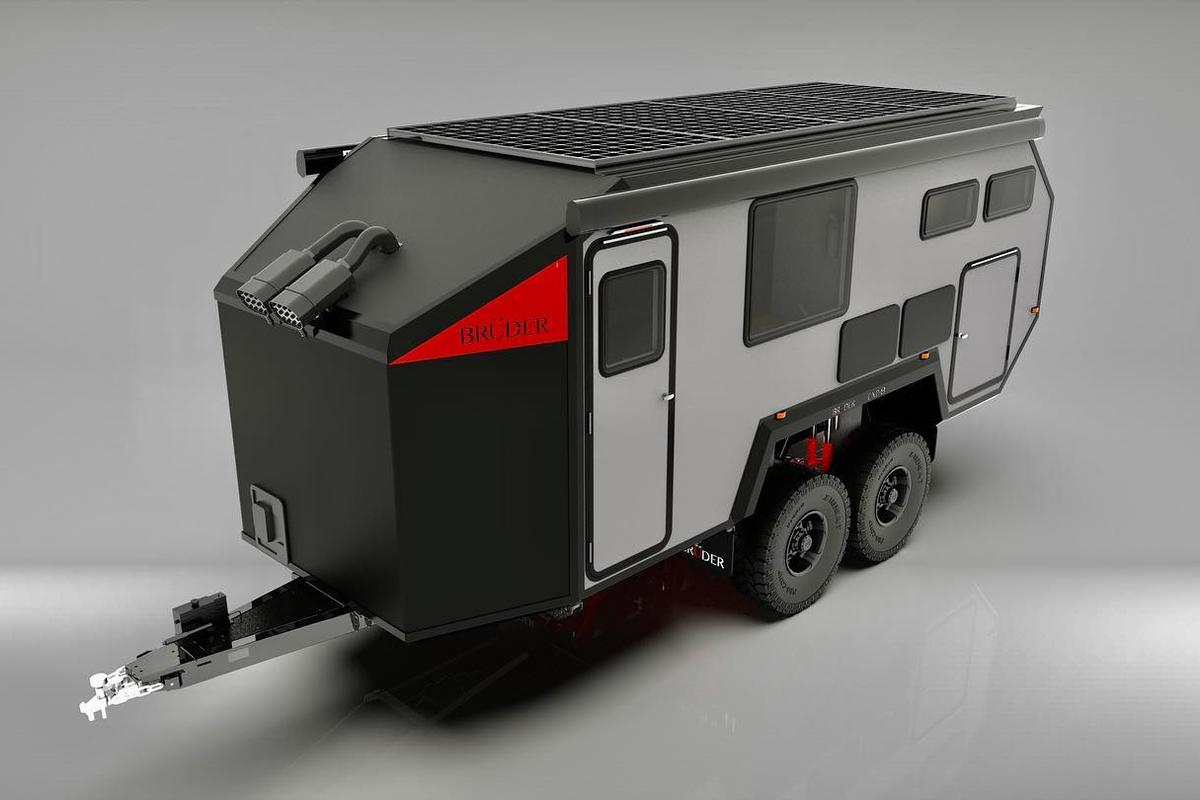 The EXP-8 includes 1,600 watts of roof-mounted solar to help keep its 1,000-Ah battery charged