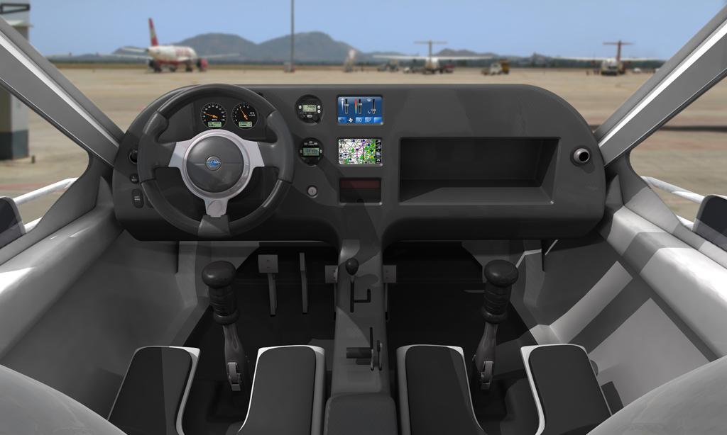 Terrafugia Transition - Touch-screen in cockpit (Image: Terrafugia)