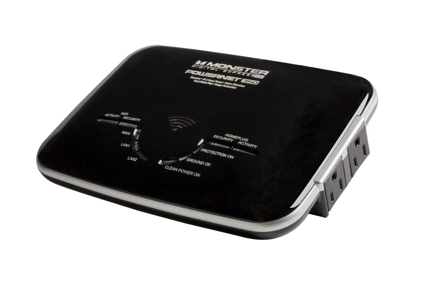 """Monster's new Powernet 1G offers a unique """"no new wires"""" networking solution and provides speeds fast enough to reliably support multiple 1080p datastreams"""