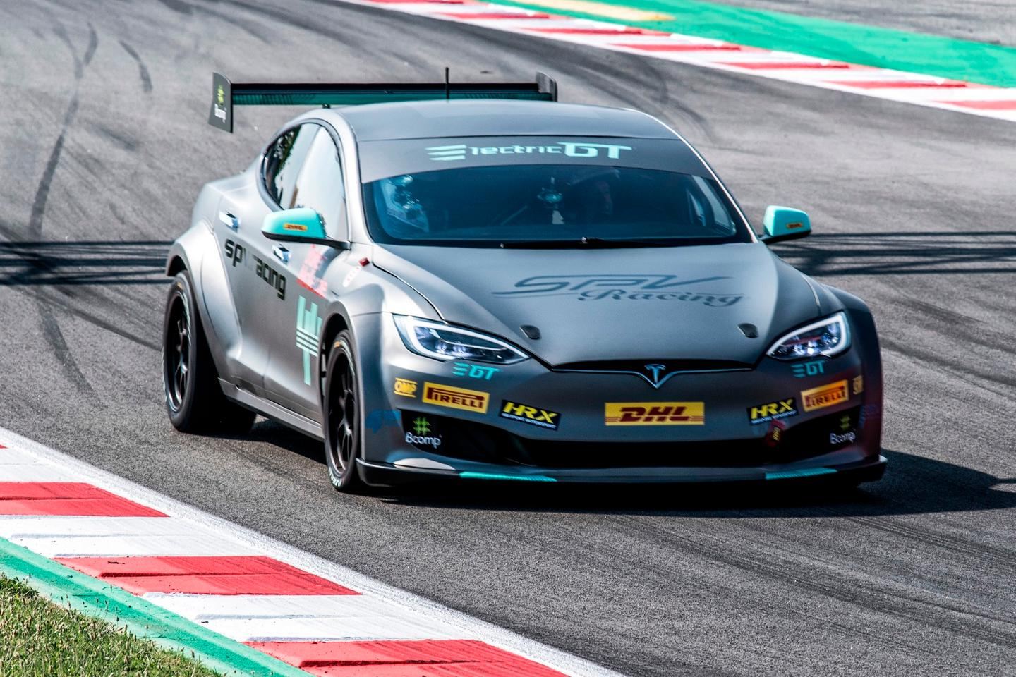 The first race-ready EPCS Tesla P100D has been delivered to SPV Racing in Barcelona, Spain