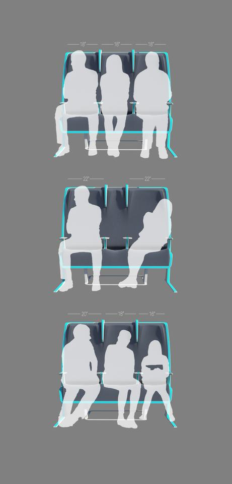 Examples of Morph customized seating