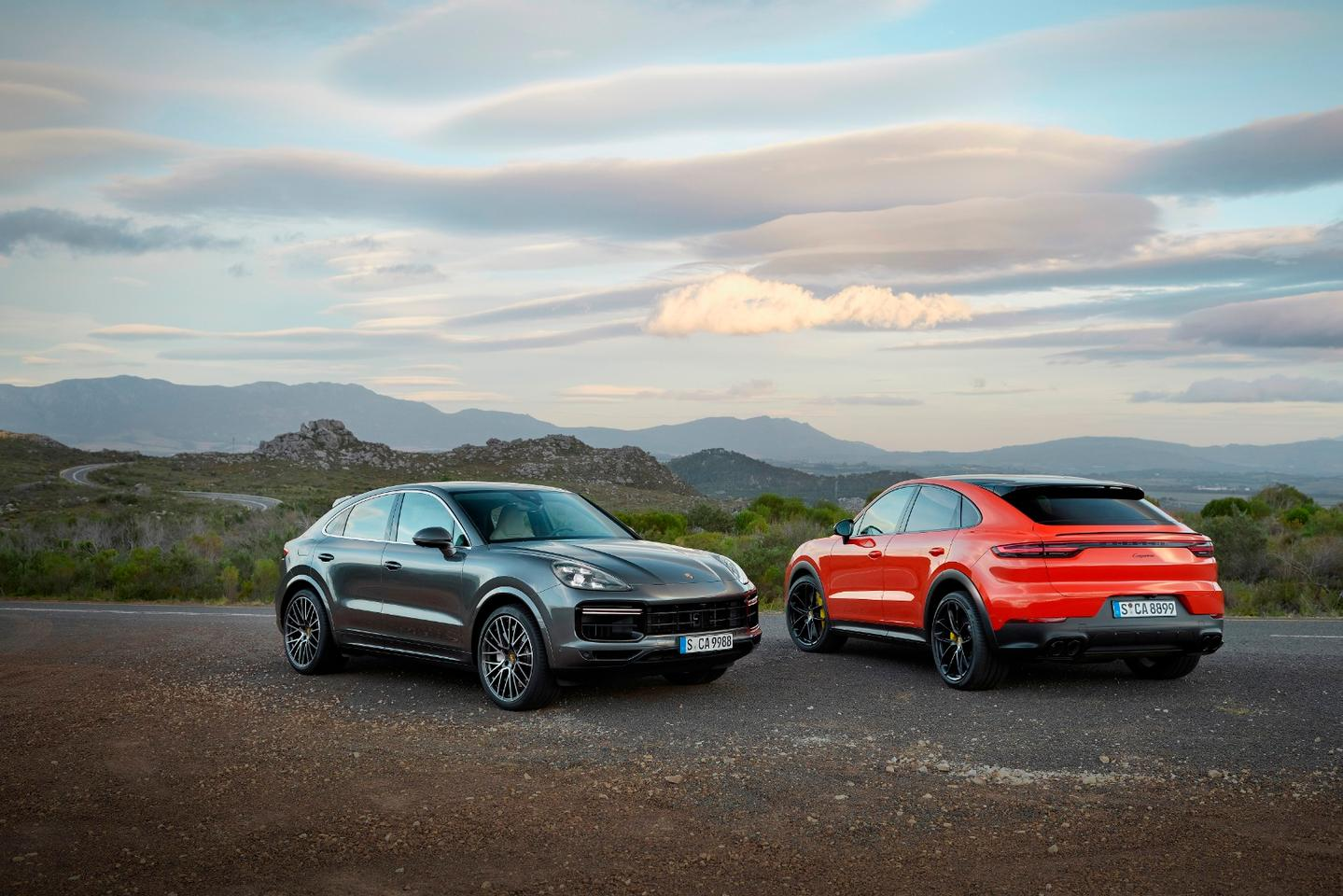 The 2020 Porsche Cayenne Coupe will come in both a standard and a Turbo Coupe model, equipped with a turbocharged V6 and V8 respectively