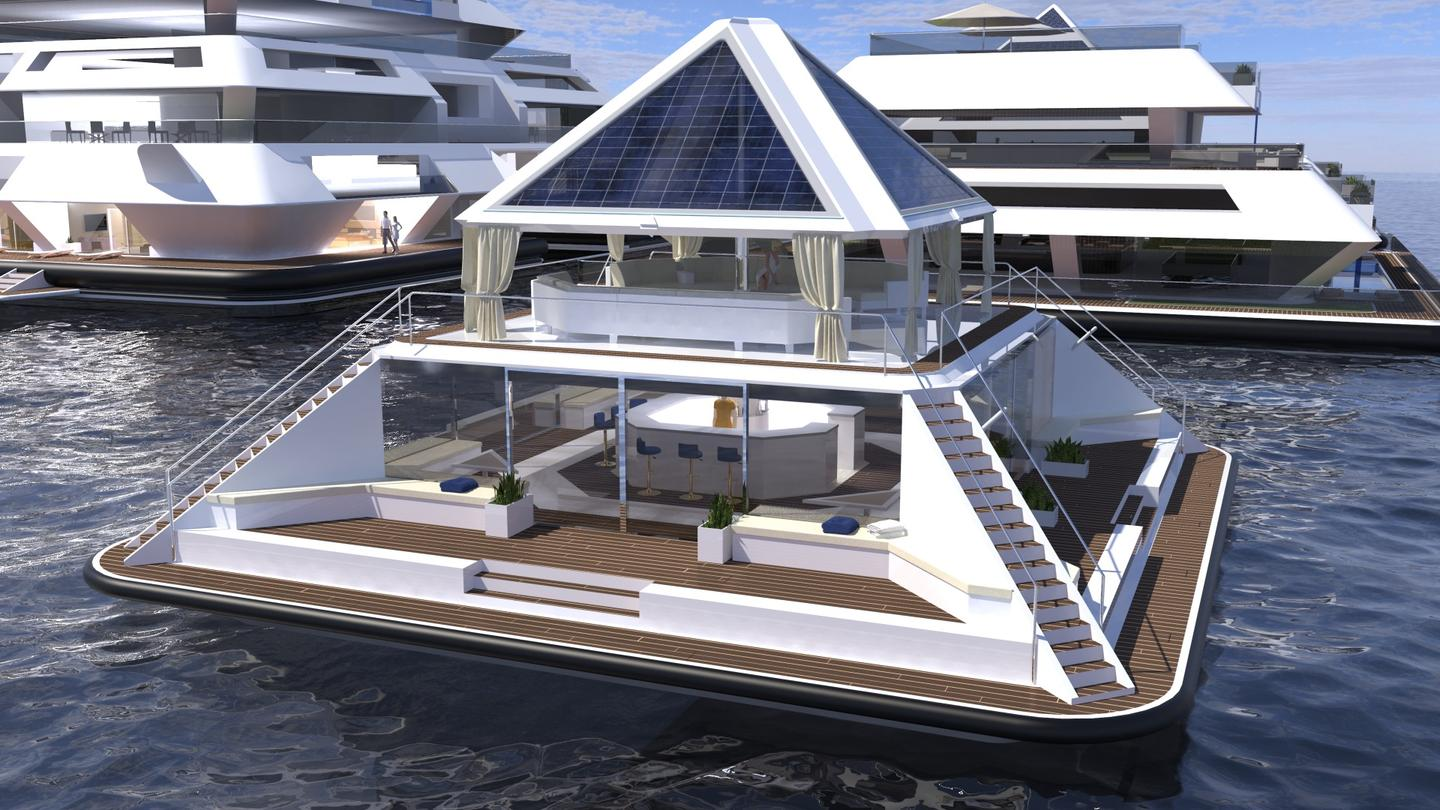 Pierpaolo Lazzarini, the Italian designer behind the UFO 2.0 floating home, has unveiled another futuristic floating housing concept