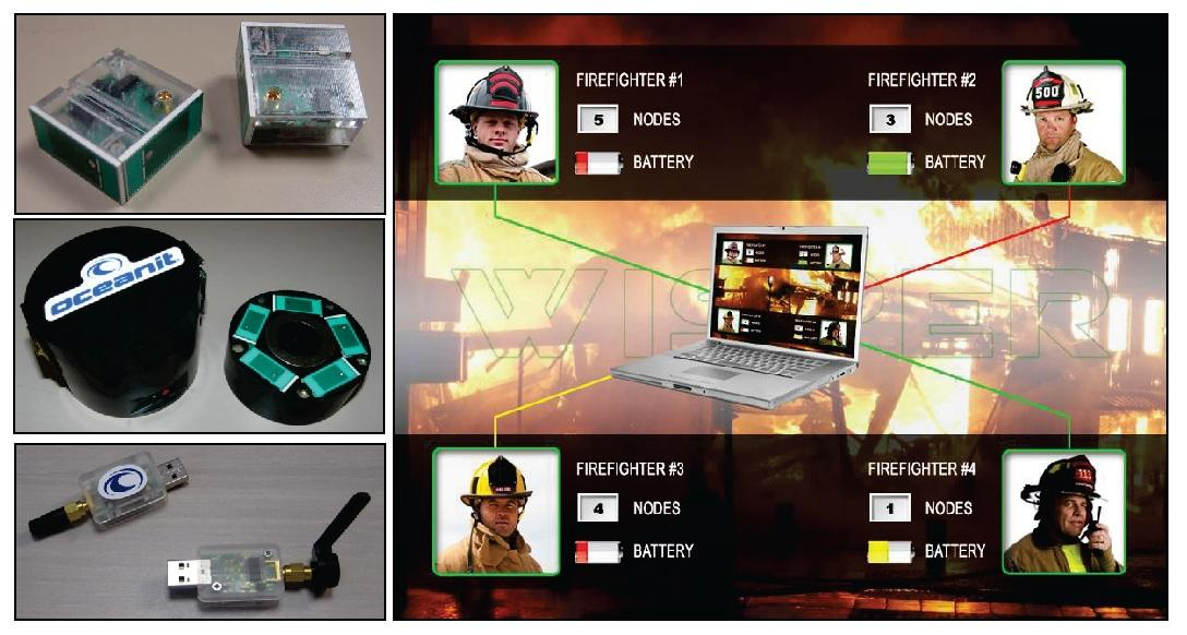 The WISPER routers (top left), the WISPER dispenser (middle) and base station modules (bottom) are all part of the new firefighter tracking system (Image: Department of Homeland Security)