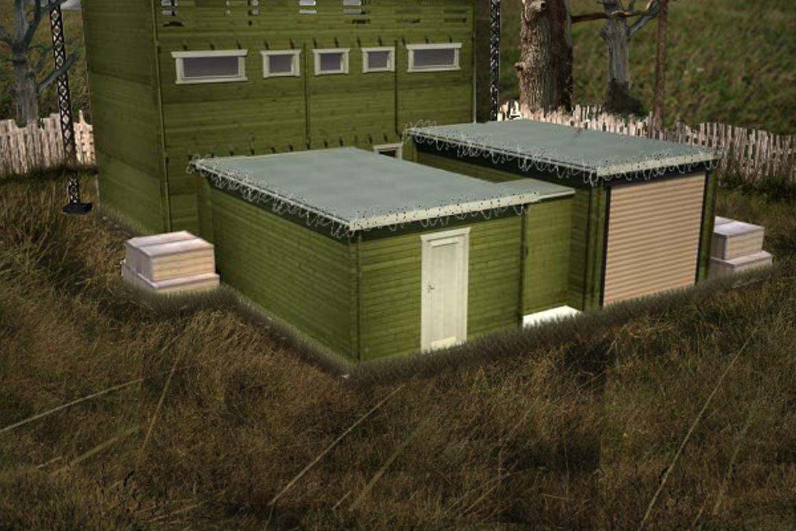 The Zombie Fortification Cabin (ZFC-1), by British company Tiger Log Cabins (Image: Tiger Log Cabins)